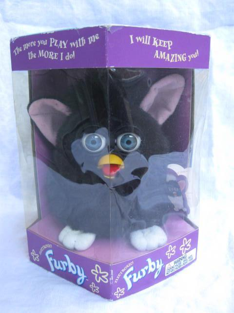 Original 1998 Black Furby With Blue Eyes Electric Interactive Toy