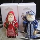 Hallmark 2010 & 2012 Switzerland Netherlands Lot Of 2 Santa's From Around The World Limited Quantity Koc Club Christmas Tree Ornament