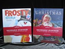Hallmark Lot Of 2 Frosty & Night Before Christmas Lot Of 2 Recordable Storybooks