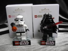 Hallmark Darth Vader & Imperil Stormtrooper  Lego Star Wars Lot Of 2 Christmas Tree Ornaments 2011 & 2012