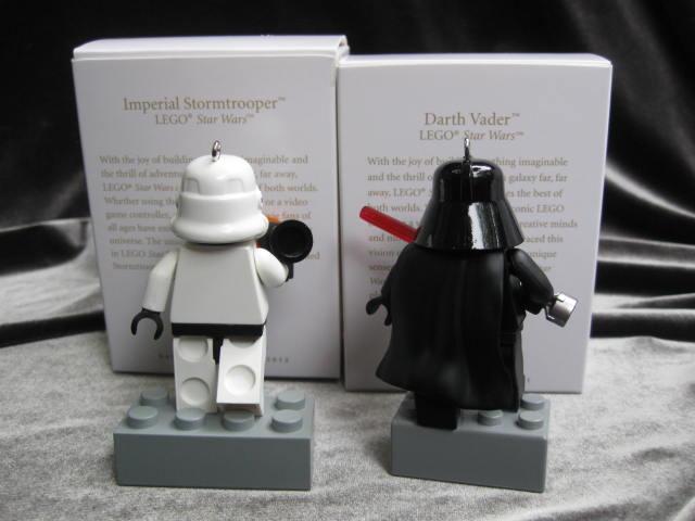 Hallmark Darth Vader & Imperil Stormtrooper  Lego Star Wars Lot Of 2 Christmas Tree Ornaments 2011 & 2012