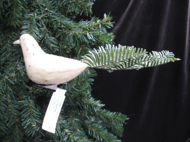Hallmark  2006  White Destressed  Bird Watcher Christmas Tree Ornament