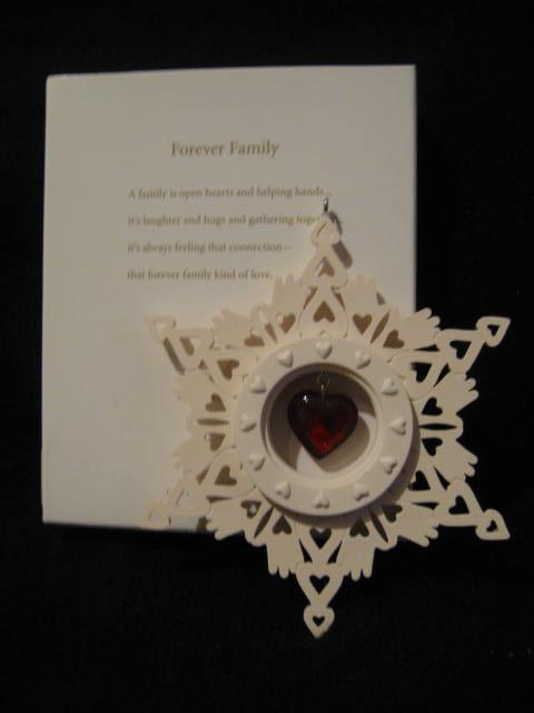 Hallmark 2012 Forever Family Christmas Tree Ornament