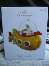 Hallmark 2012 Santa's Sweet Ride 6th In Series Yellow Jelly Bean Submarine Christmas Tree Ornament