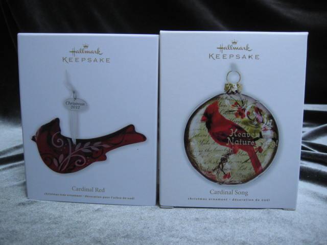 Hallmark 2010 & 2012 Cardinal's Song & Cardinal Red Lot Of 2 Northern Cardinal Ornaments