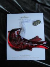 Hallmark 2012 Cardinal Red Christmas Tree Ornament
