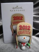 Hallmark 2012 Grandson  Snowboy  Christmas Ornament