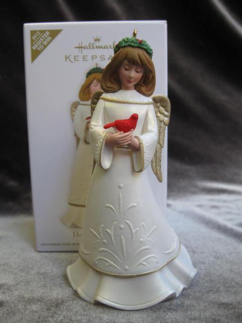 Heavenly Friends Hallmark 2012 Register To Win Angel & Cardinal Christmas Tree Ornament
