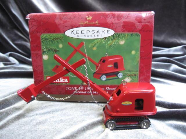 Tonka 1955 Steam Shovel Hallmark 2001 Christmas Tree Ornament