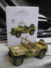 Hallmark 2012 1943 Ford GPW Debut Reveal WWII Jeep Christmas Tree Ornament