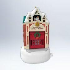 Hallmark 2012 Kringleville Fire Station 3rd In Series With Magic Movement Christmas Tree Ornament