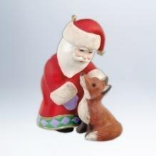 2012 Hallmark A Visit From Santa 4th In Series Red Fox Ornament  Christmas Tree Ornament
