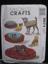 McCall's Crafts 3071 dog Bed, Dog Cover & Dog Coat Sewing Pattern