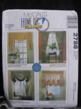 McCall's Home Dec In A Sec 2788 Window Treatments Sewing Pattern
