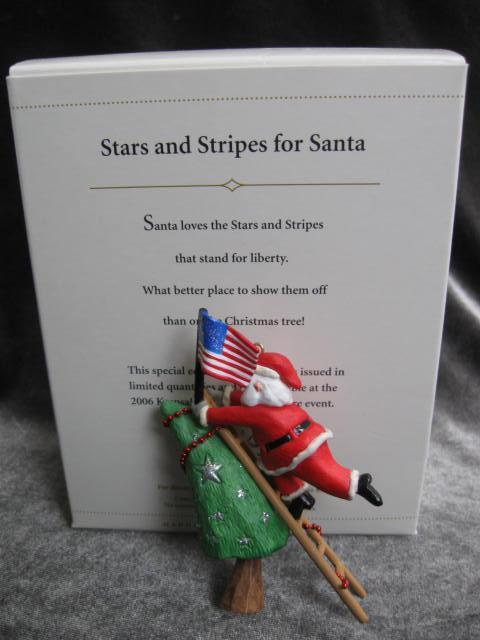 Hallmark 2006 Stars & Stripes for Santa Limited Patriotic USA Flag Ornament