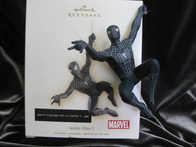 Hallmark 2007 Black Spider Man Spiderman 3  Ornament