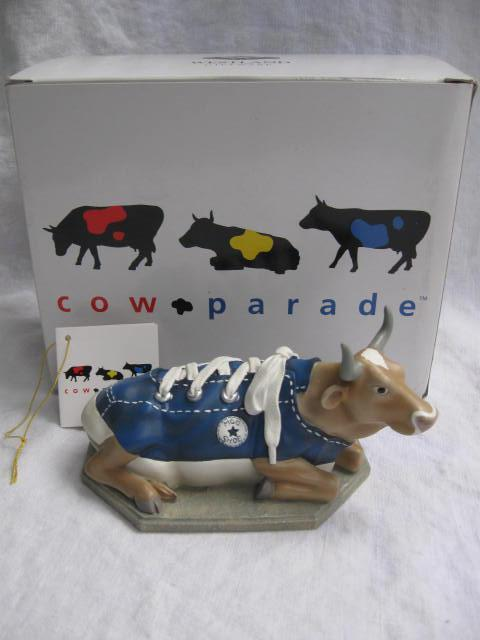 Cow Parade Mooshoe Cows on Parade Numbered First 1st Edition Figurine