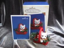 Hallmark 2005 Puppy Love 15th In Series  Westie Christmas Tree Ornament