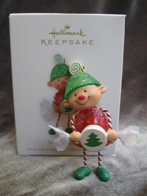 Hallmark 2008 Sweet Treat Elf Gum Drop Christmas Tree Ornaments