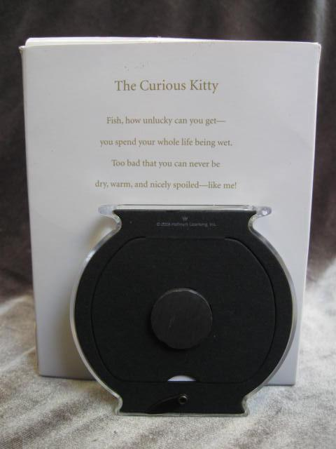Hallmark 2008 The Curious Kitty Fish Bowl Photo Holder & Magnet  Christmas Tree Ornaments