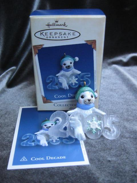 Hallmark 2005 Cool Decade White Seal #6 In Cool Decade Series Christmas Tree Ornament