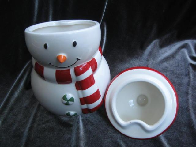 Hallmark 2012 Snowman Cookie Treat Candy Jar Christmas Holiday Winter