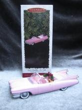 Hallmark 1996 1959 Cadillac De Ville #6 In Classic American Cars Series   Christmas Tree Ornament Pink Cadillac