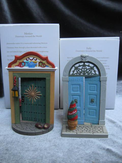 Hallmark 2008  2010  Mexico & Italy  2nd & 4th  In Doorways Around The World   Series Christmas Tree Ornament
