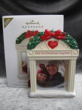 Hallmark 2012 Our First Christmas Together Photo Holder Christmas Tree Ornament