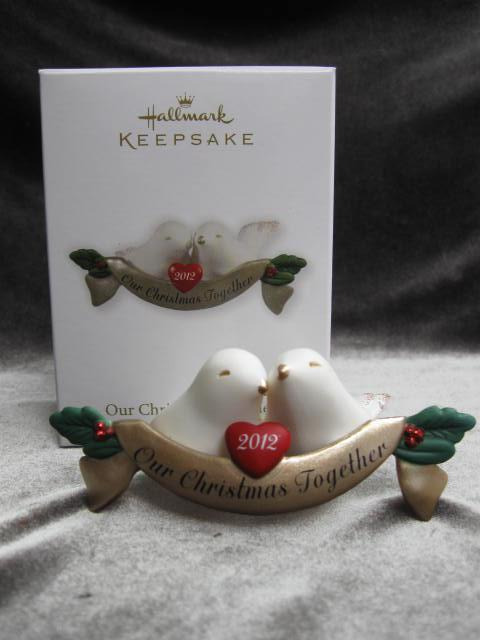 Hallmark 2012 Our Christmas Together Doves  Christmas Tree Ornament