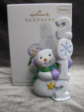 Hallmark 2012 Frosty Fun Decade #3 In Series Christmas Tree Ornament