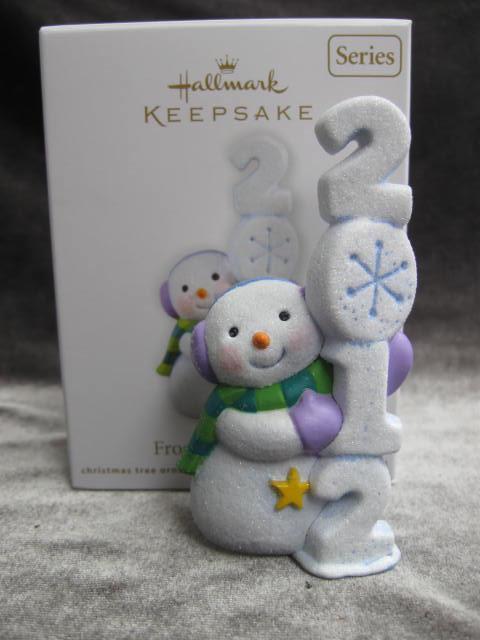Hallmark 2012 Frosty Fun Decade #3 In Series Christmas Tree Ornament