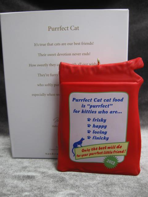 Hallmark 2012 Purrfect Cat Perfect Cat Photo Holder Christmas Tree Ornament