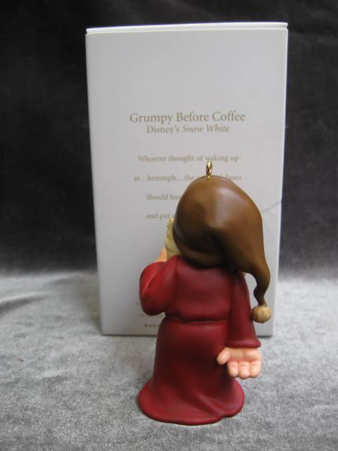 Hallmark 2007 Mirror Mirror On The Wall & Grumpy Before Coffee Disney's Snow White Lot Of 2 Christmas Tree Ornaments