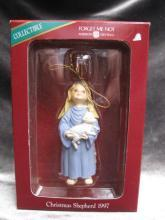 American Greetings 1997 Christmas Shepherd Forget Me Not Ornament