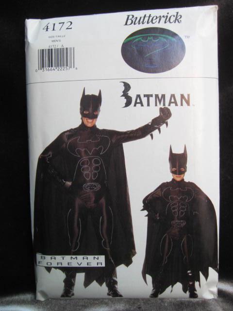 Butterick 4172 Batman Men's Halloween Costume Sewing Pattern