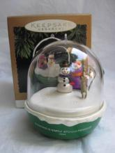 Hallmark 1994 Barney The Purple Dinosaur Magic Light & Motion Christmas Tree Ornament