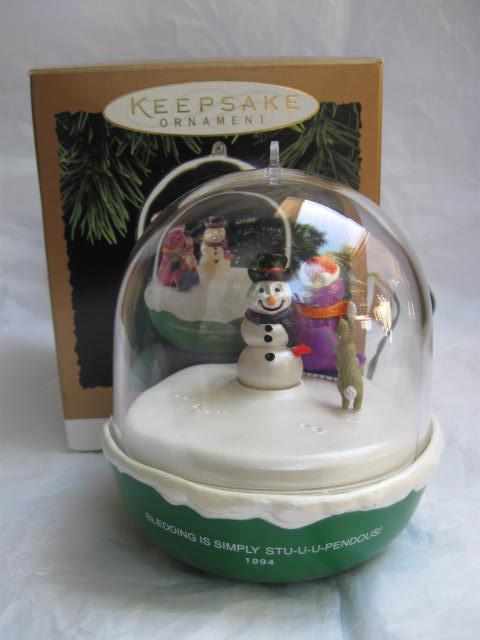 Hallmark 1994 Barney The Purple Dinosaur Magic Light & Motion Christmas Tree Ornament