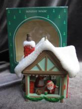 Hallmark 1985 Mr. & Mrs. Santa Magic Light Christmas Tree Ornament