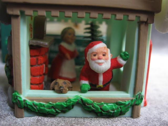 Hallmark 1985 Mr. & Mrs. Santa Magic Light Christmas Tree Ornament