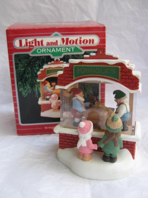 Hallmark 1987 Kringle's Toy Shop Magic Light & Motion Christmas Tree Ornament