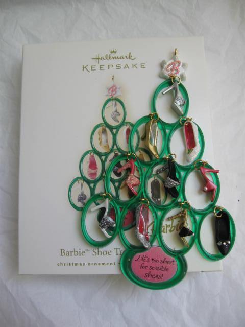 Hallmark 2008 Barbie's Shoe Tree  Christmas Tree Ornament