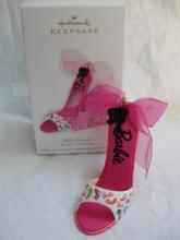 Hallmark  2012 Shoe-licious  Barbie Pink  High Heel Shoe Christmas Tree Ornament