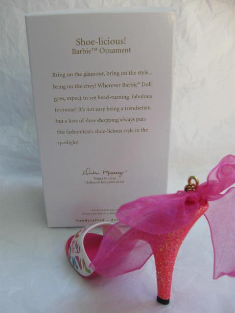 Hallmark  2012 Shoe-licious  Barbie Pink  High Heel Shoe Christmas Tree Ornament