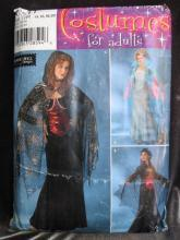 New Simplicity 0511 Gothic Gown Robe  Renaissance Medieval  Halloween Costume Sewing Pattern  Size RR 14, 16, 18,20 Goth