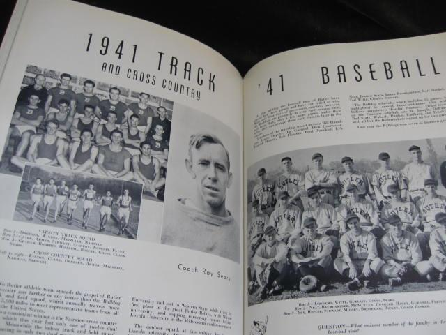 The 1941 Drift Butler University Indianapolis, IN Yearbook  No Writing WWII