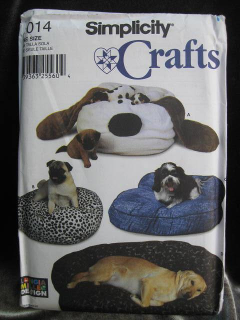 Simplicity 7014 Novelty Dog Cat Pet Furniture Sofa Beds Sewing Pattern