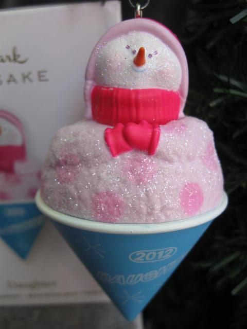 Hallmark 2012 Daughter Shaved Ice Snowcone Christmas Tree Ornament