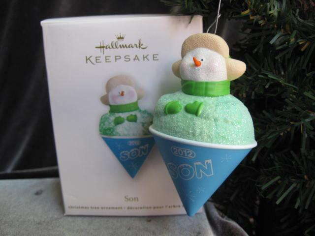 Hallmark 2012 Son Shaved Ice Snowcone Christmas Tree Ornament