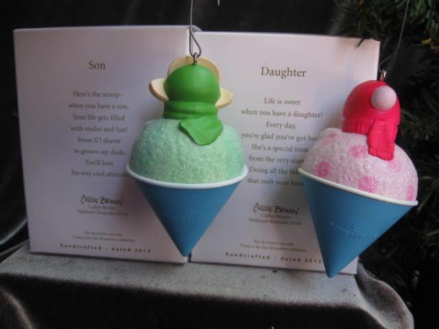 Hallmark 2012 Daughter & Son Shaved Ice Snowcone Christmas Tree Ornament